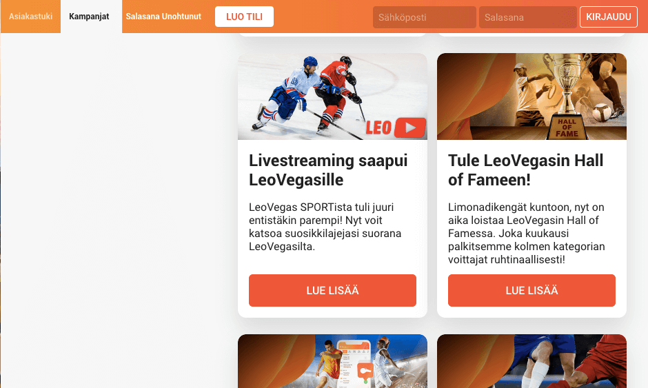 Leo Vegas Live streaming